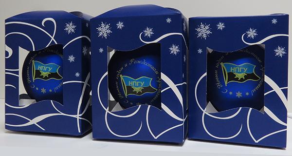 новогодние елочные игрушки шары с логотипом