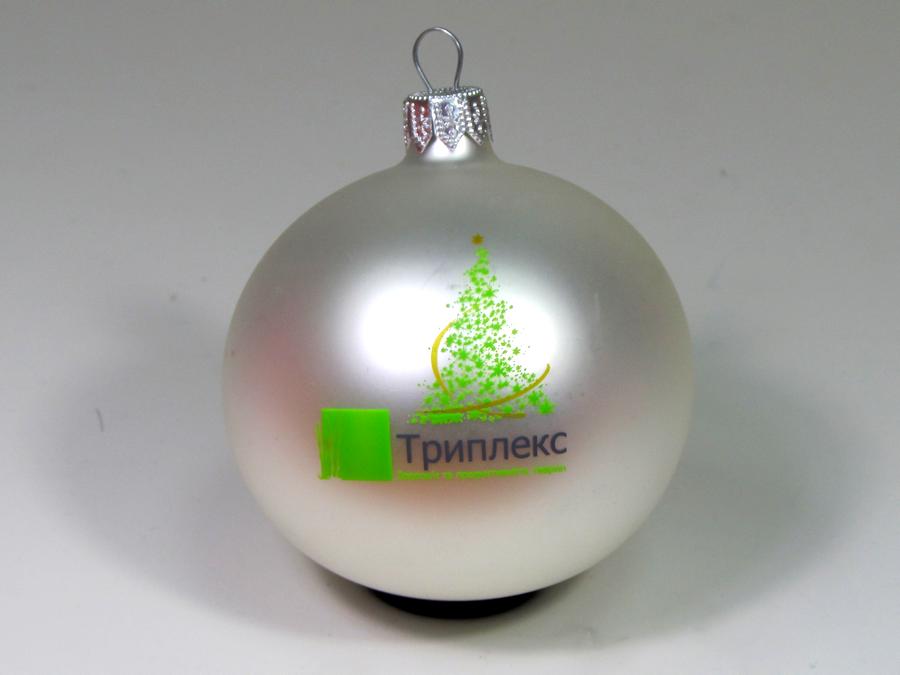 новогодние игрушки с логотипом